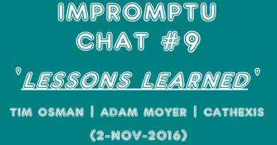 Impromptu Chat #09 | Lessons Learned (2-Nov-2016)
