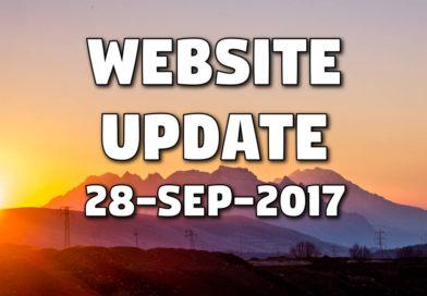 Website Update – New Functionality