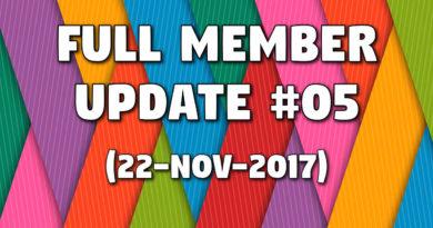 Full Member Update #5 (22-Nov-2017)