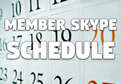 Member Skype Calls: Proposed Topic Schedule