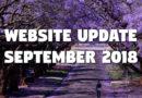 Website Update – September 2018