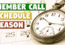 Member Call — Schedule Season