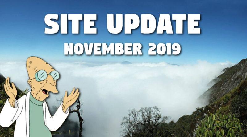 Website Update – November 2019
