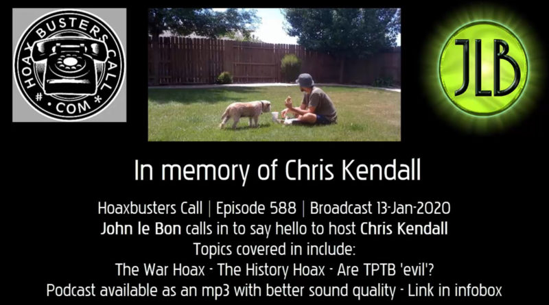 Chris Kendall Hoaxbusters Call