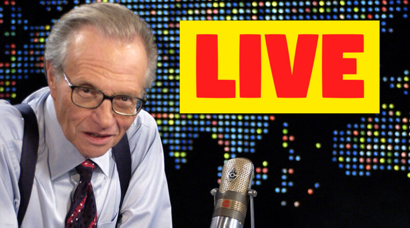 Larry King Syncs Livestream